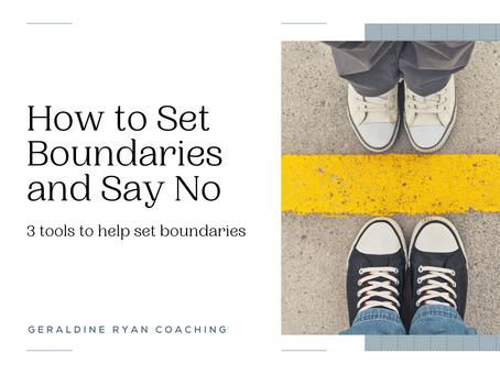 Setting boundaries and sayng no