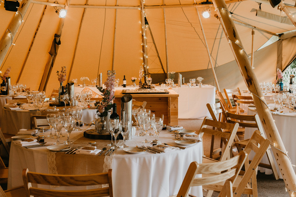 Rustic tipi wedding at The Gardens