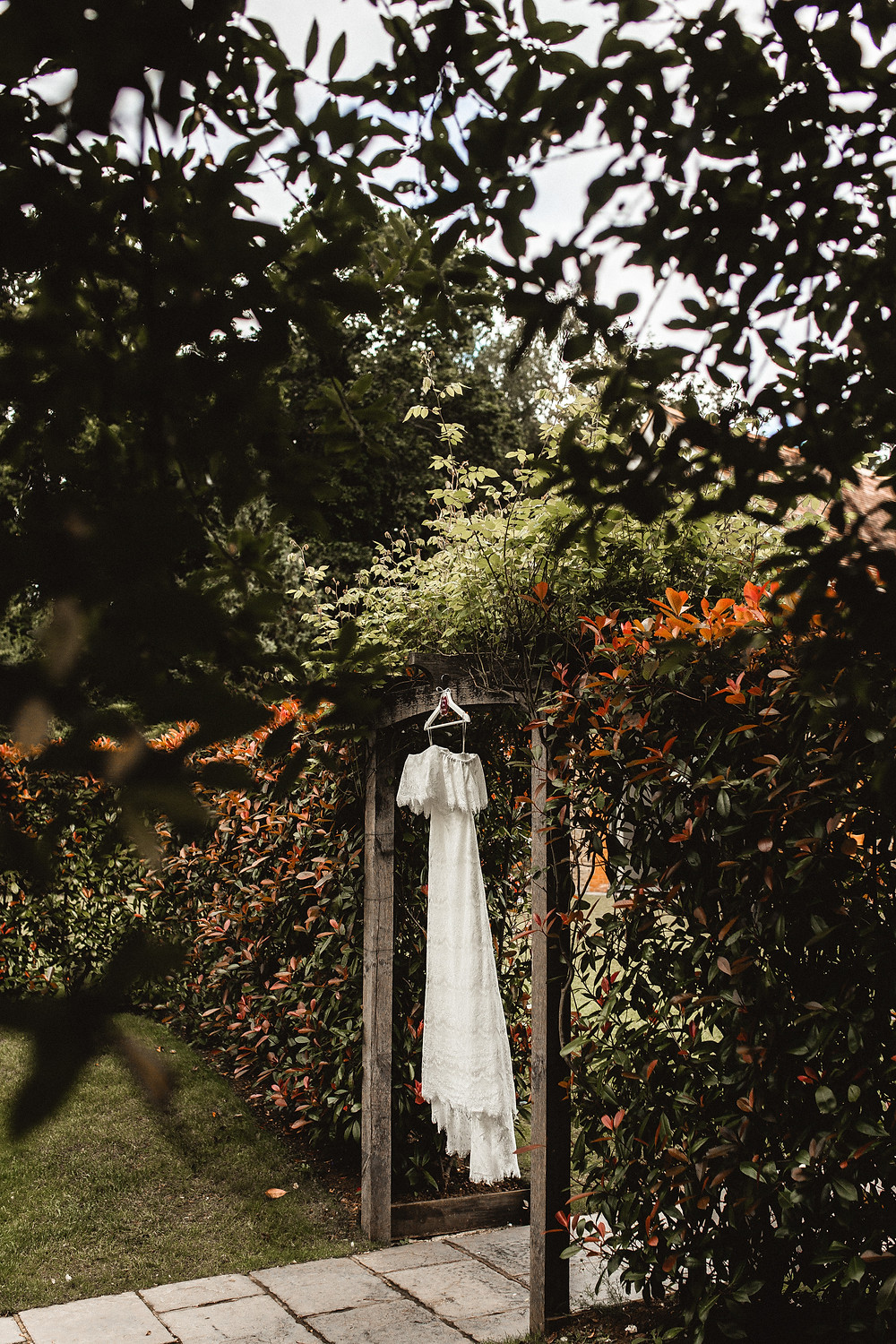 Millbridge Court wedding dress outside