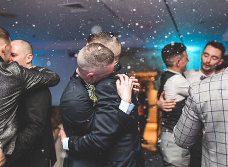 Roland and Keith's London Winter Wonderland Wedding