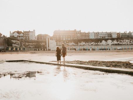 Sea, Sand, and a Socially Distanced Couple Shoot