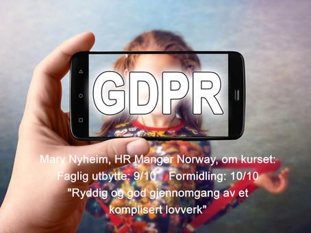 Grunnkurs i GDPR og Personvern Oslo - Bergen - Grand Canaria