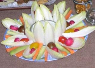 Pickles de légumes  deux sauces pur 12 personnes