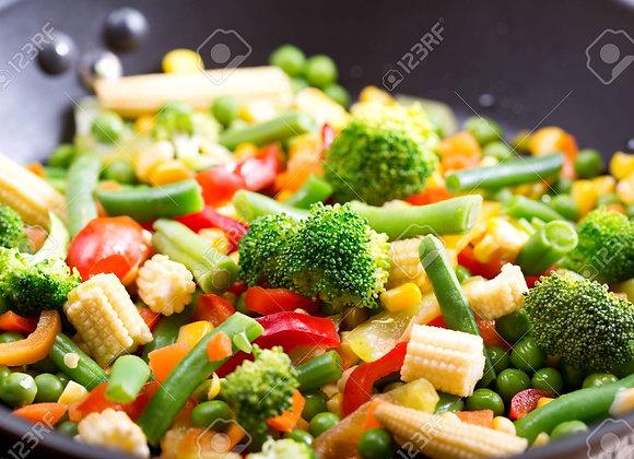 Légumes de saison sautés pour 2 personnes