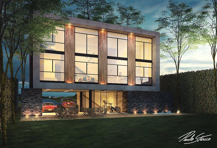Casa DB - Vista Posterior - arquiteto Paulo Stoco