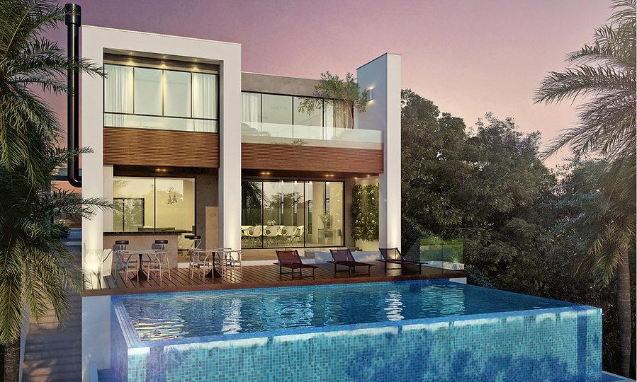 piscina borda infinita - projeto de casa - arquitetura residencial - arquiteto - arquitetura de vanguarda