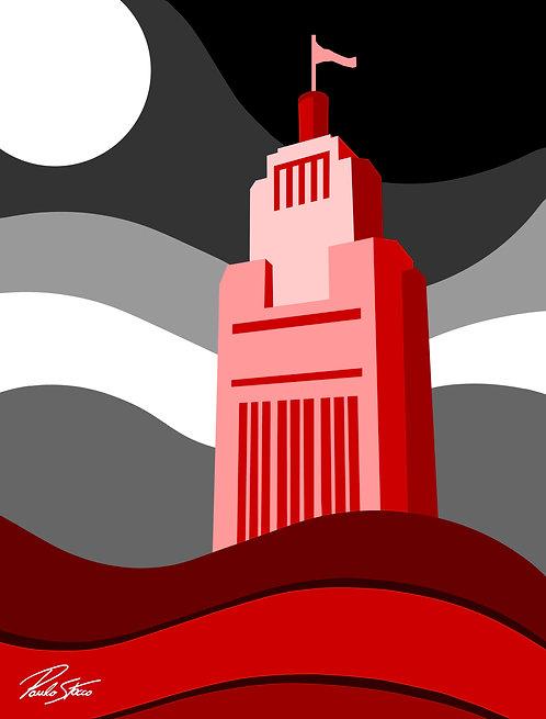 São Paulo - Red - 120 cm x 80 cm