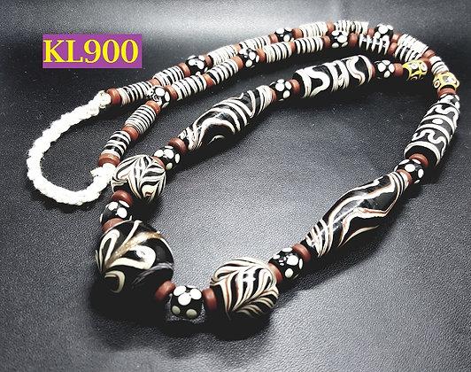 Kalung Dayak Loreng Nuansa Coklat 38 cm - KL900