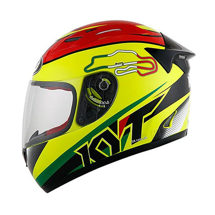 Helm KYT RC Seven 15 Italy Helm Full Face Yellow Fluo SH709