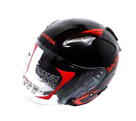 Helmet Honda Half Face KYT Black Red SH722