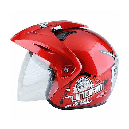 Helm WTO Helmet Kids Pet Gundam 3 Merah Helm Anak SH704