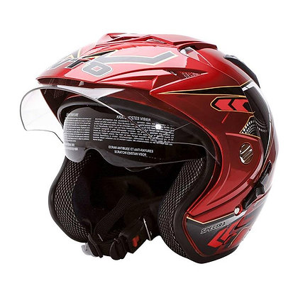 Helm WTO Impressive Spectra Double Visor Half Face Candy Red SH715