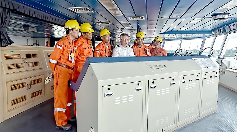 On Board LNG Ship FOJA