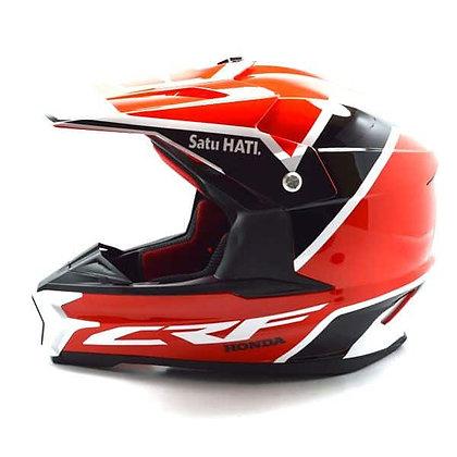 Helm Honda Full Face CRF Helmet Ukuran M- SH702