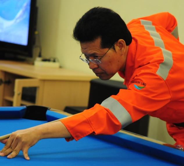 Shooting Bilyard LNG Tangguh