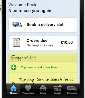 Tesco Groceries app for iPhone / iPod Touch – Walkthrough