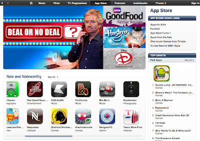 Tesco Wine Finder on 'front page' of iTunes App Store