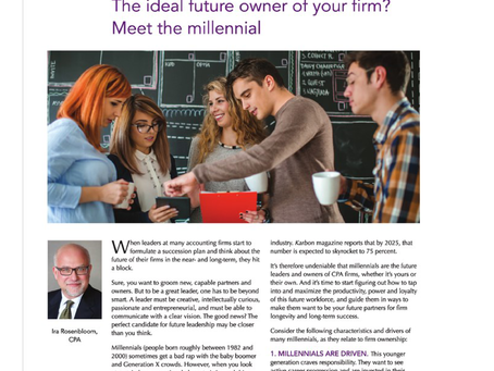 The Ideal Future Owner of Your Firm? Meet the Millennials.