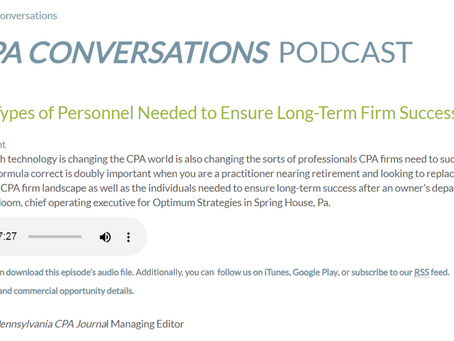 Podcast: You Need a Variety of Personnel to Ensure Long-Term Firm Success
