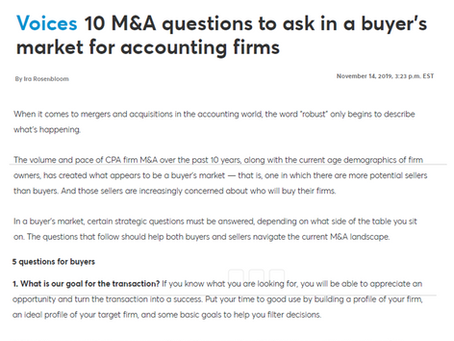 10 Questions to Ask in an M&A Buyer's Market