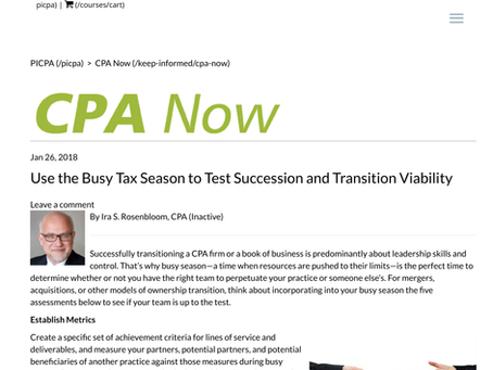 Test Succession & Transition Viability