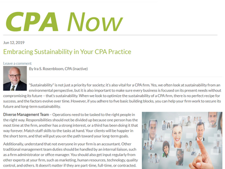 Embracing Sustainability in Your CPA Practice