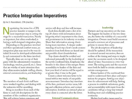 Practice Integration Imperatives