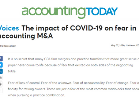 How COVID-19 Impacts the Traditional Fears Around CPA Firm M&A