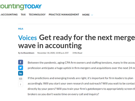 Get Ready for the Next Merger Wave