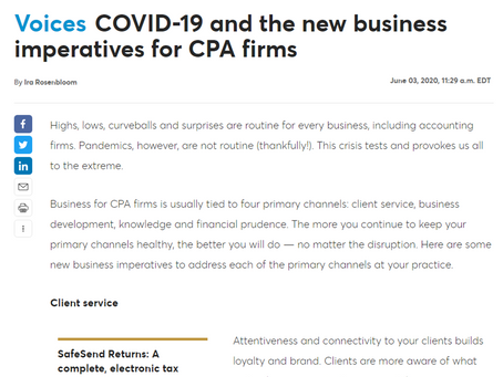 COVID-19 and the New Business Imperatives for CPA Firms