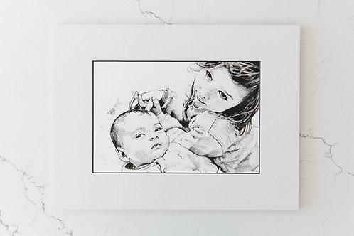 Hand Drawn Monoprint
