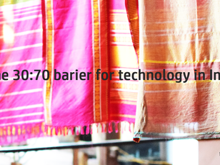 The 30:70 barrier for technology in India
