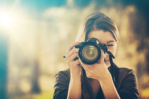 Portrait of a photographer covering her