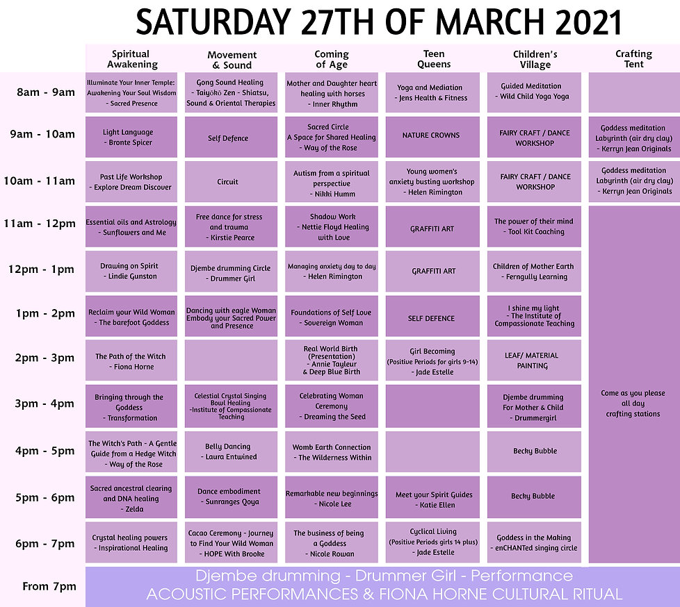 002 time table SATURDAY 27th of march.jp