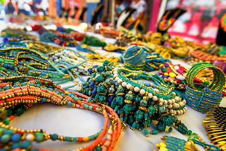 Colorful traditional jewelry sold at wee