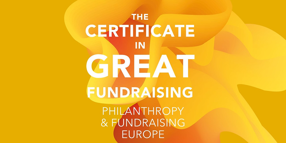 Certificate in Great Fundraising