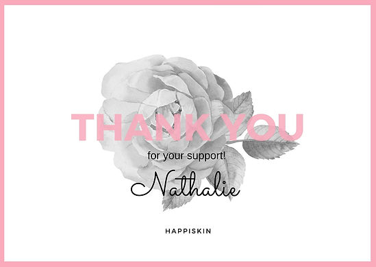 Pink and White Floral Thank You Postcard