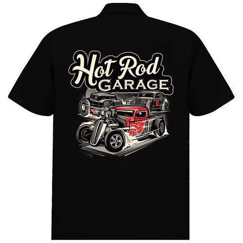 Hot Rod Garage work Shirt in Black