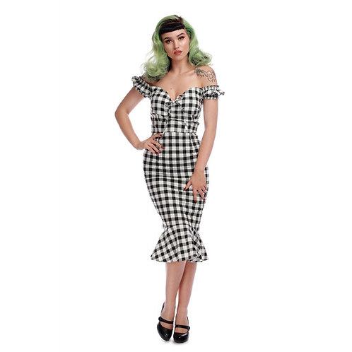Sasha  Vintage Gingham Fishtail Dress