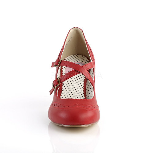 Flapper -35 Red Faux Leather