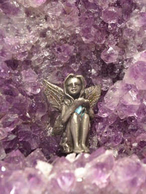 Fairy in crystal