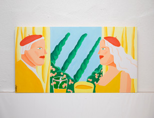 a french couple / Original work (75*35cm) Acrylic on canvas
