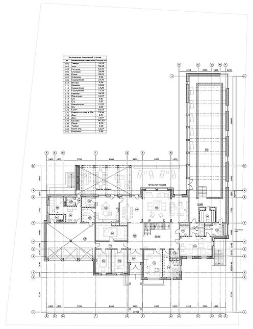 "план 1-го этажа вилла ""Миллениум"""