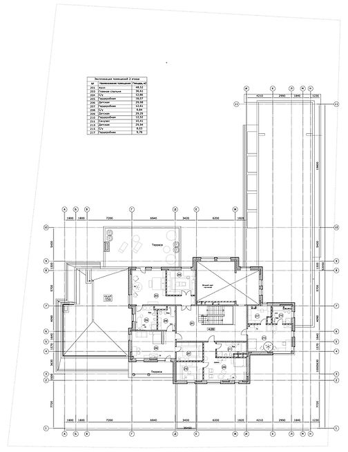 "план 2-го этажа вилла ""Миллениум"""