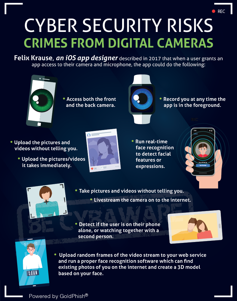 Digital Cameras Cyber Risk Infographic GoldPhish