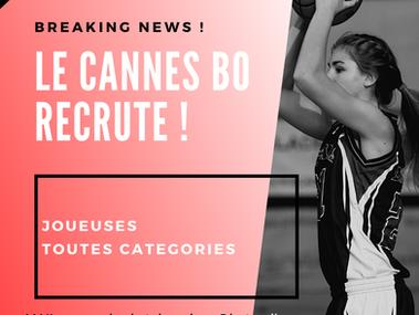 Le Cannes BO recrute !