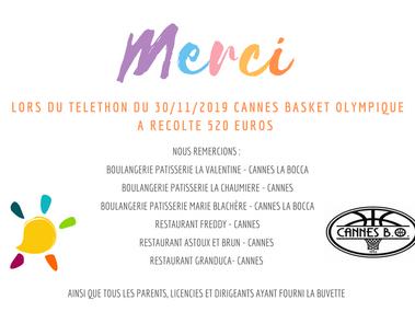 TELETHON DU 30/11/2019 - MERCI