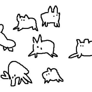 mouse drawings of Baba from Baba Is You :)))