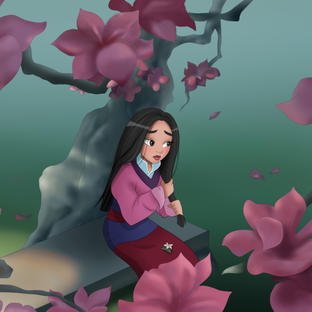 Redrew a scene from Mulan (1998) in my style