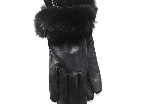 Classic Fur Gloves - Black